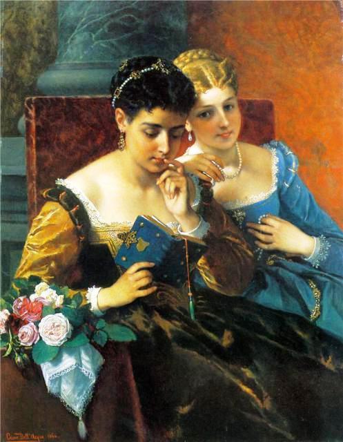 Cesare Felix Georges dell' Acqua (1821-1904) - Un moment partagé