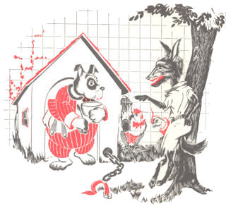 el lobo y el perro, anonimo