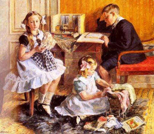 Gad_Frederik Clement,( Dinamarca, 1867-1933)Childrens_Pastimes