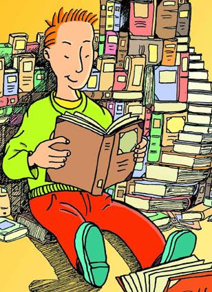 garoto lendo, 2