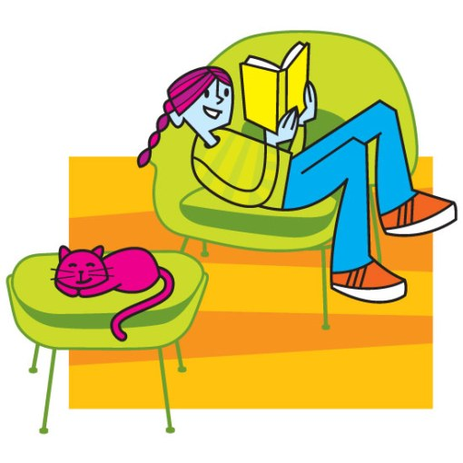 girl-reading-on-chair-with-cat