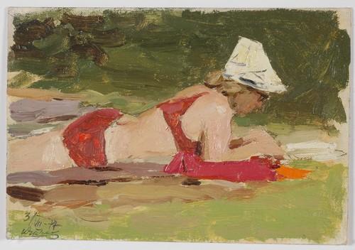 Ivan Chichelanov (Rússia 1920) aquarela 1977-1