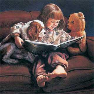 Jane Tanner, (Melbourne, Australia, contemporânea) Amiguinhos lendo 1992,