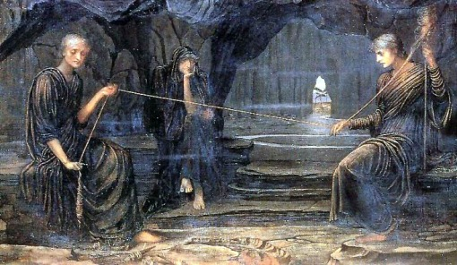 John Strudwick, Um fio de ouro,  1885, ost