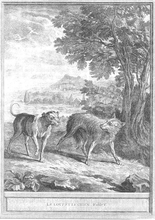 loup e chien, jean-baptiste oudry