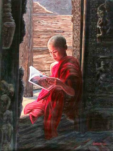 Aung Kyaw Htet (Mianmar, 1965) Reading by Window