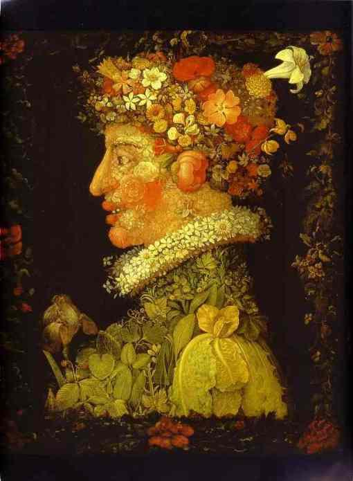 Giuseppe Arcimboldo,Spring, 1573,Ost, Louvre, Paris, France
