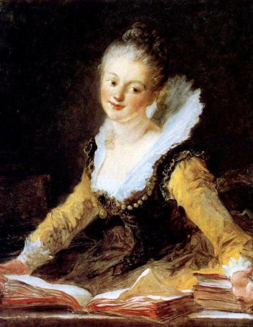 Jean-Honore-Fragonard, Retrato de jovem, tb conhecido como O estudo, 1769, ost,82x66 Louvre
