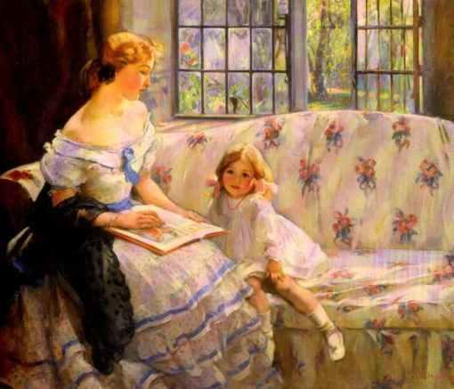 MaryEthelHunter (Inglaterra, 1878-1936), Era Uma Vez,1909,oleosobretela, 28x36inches