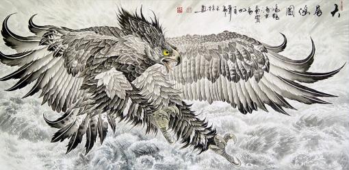 águia, pintura chinesa