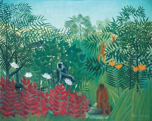 Henri Rousseau, Floresta Tropical com macacos, 1910, Tate Gallery, Londres
