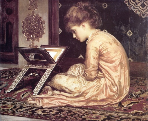 Lord Frederick Leighton (1830-1896) Study_At_a_Reading_Desk 1877  OST Sudley House Liverpool