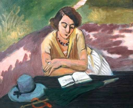 Henri Matisse, (França) Liseuse au parasol, 1921, OST, Tate Gallery