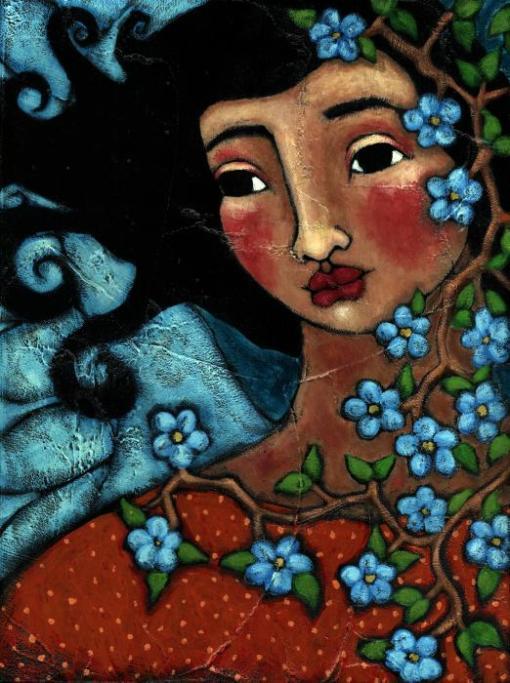 menina com flores azuis-julie-ann-bowden