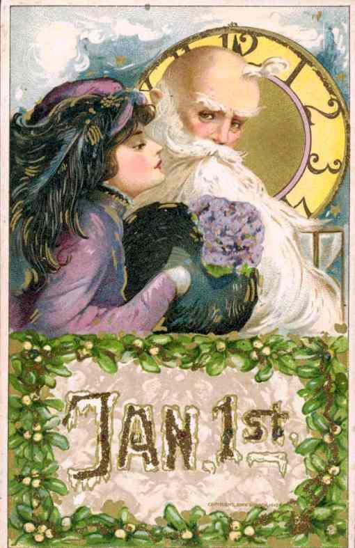 1 de janeiro, 1 menina e ano velho, relógio