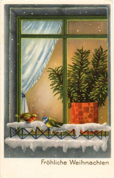 1 -- PÁSSAROS NA JANELA frohliche-weihnachten