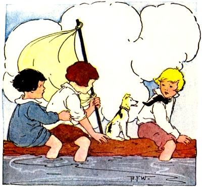 barco no rio, blanche wright
