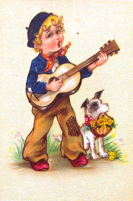 cantando, menino,