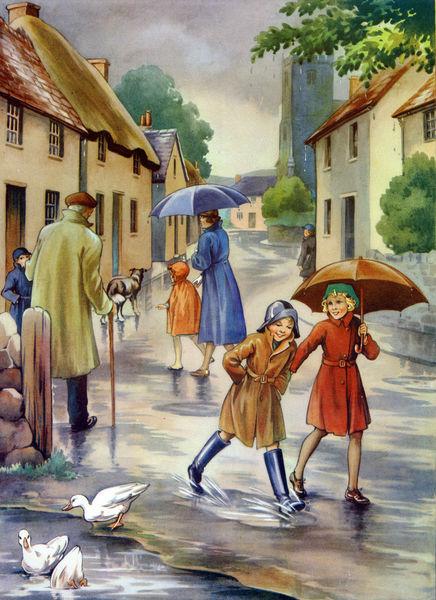 chuva um dia de