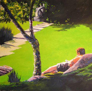 ESTUDANTE, 2007, henrique Nande, Portugal, oleo sobre tela