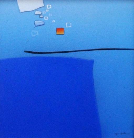 FUKUDA, Roberto Kenji (SP 1943) Abstrato - Óleo s tela 50 x 50 cm. ass. inf. direito