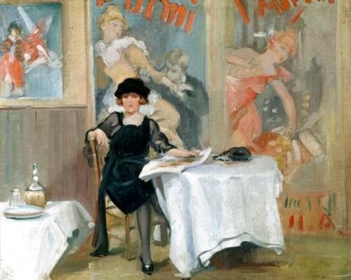 Harry J Pearson (1872-1933) Sra no café