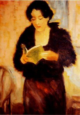 Jose van Gool, Lesend Vrouw, 2000, 70x60, ost