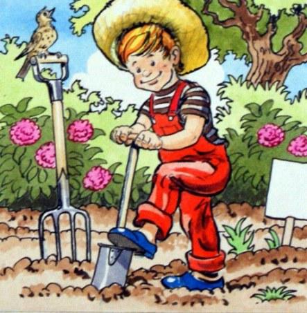 plantando, Jesus Blasco (1919 – 1995, Spanish)