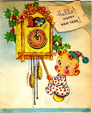 relógio do ano novo