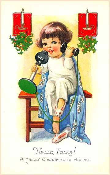 telefone menina, natal