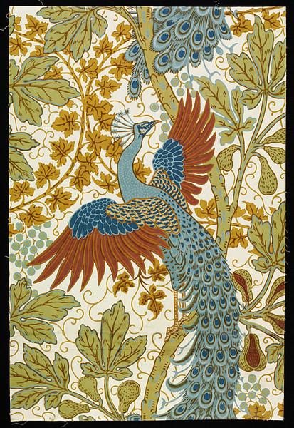 A figueira e o pavão, Walter Crane, 1895