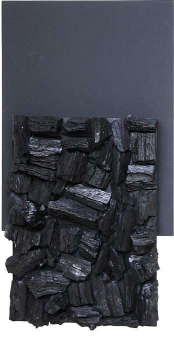 Obras WRadwan-- Esperança, (60 x 100 cm - Acrílica, carvão e madeira)