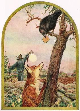 Resultado de imagem para a raposo e o corvo