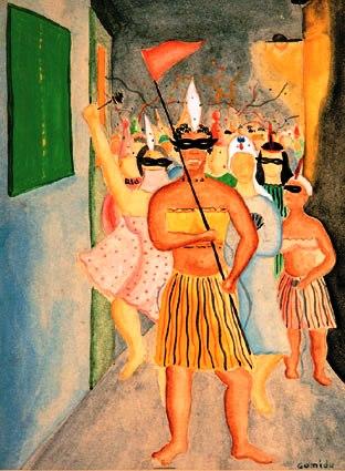 Antonio Gomide,Carnaval, sd, aquarelapapel,17x12