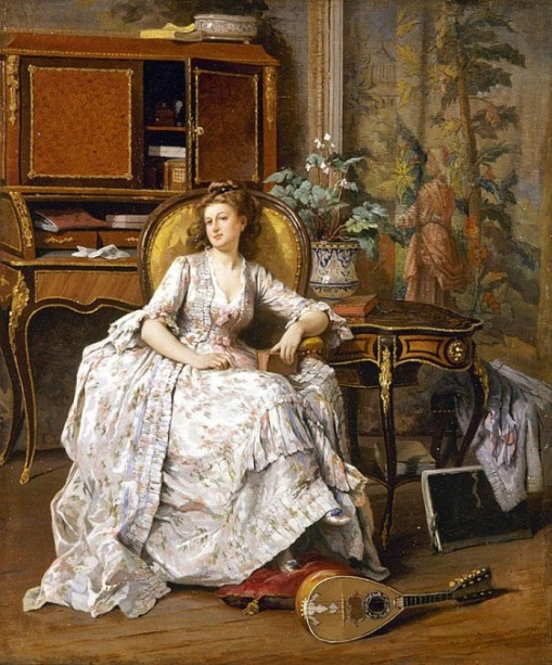 Boucherville, Adrien De (ca 1845-1912) - Daydreaming, 1871