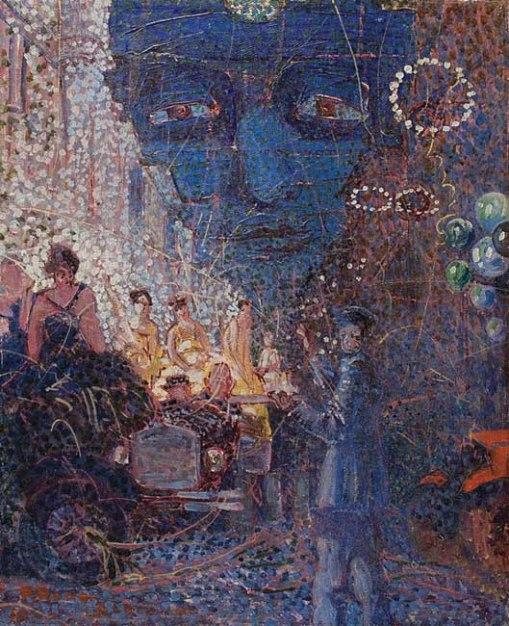 Bruno Lechowiski,Carnaval,ost, 57 x 46,5 cm