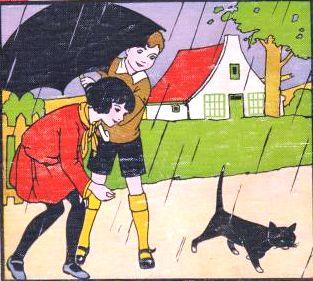 chuva e gato preto B. Midderigh Bokhorst,