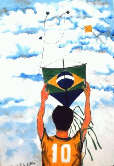 David Ricci, Segurando Pipa esperando o vento, 2005, ost, 60x 40cm