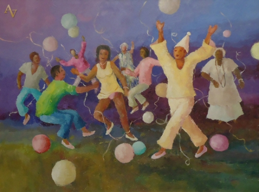 Gentil Correia, Carnaval, ost, 60 x 80 cm