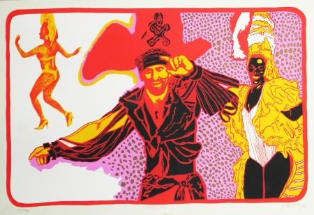 Glauco Rodrigues, CARNAVAL, Serigrafia, 40x60 cm.