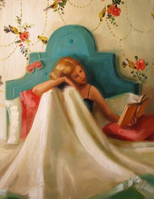 Lendo na cama, livro, John Gannam
