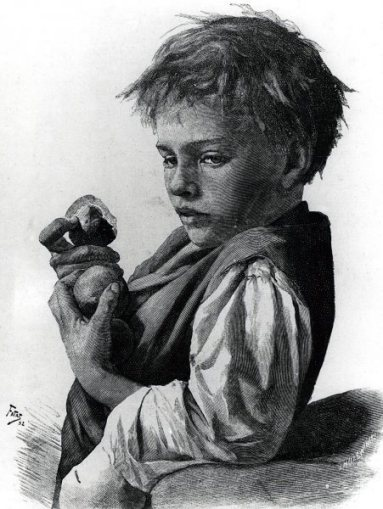 a-boy-with-peachesAleksander Gierymski (1850 – 1901, Polish)