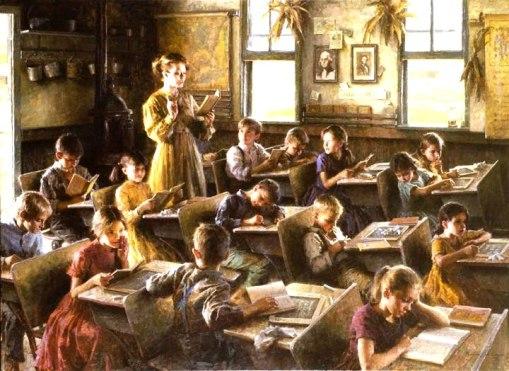 Escola em 1879, Morgan Weistling, ost,100x150cm