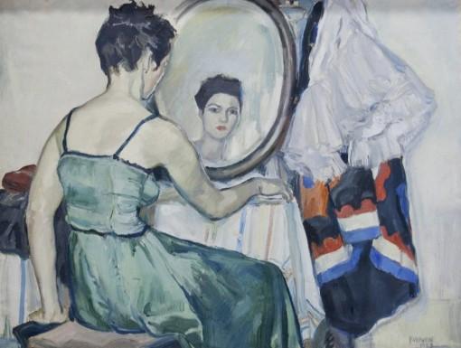 João Fahrion – O vestido verde, 1949. O Museu de Arte do Rio Grande do Sul ...