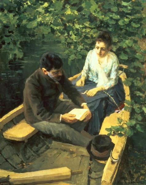 konstantin-korovin (Russia 1897-1950) In a Boat 1888 Tretyakov Gallery, Moscou