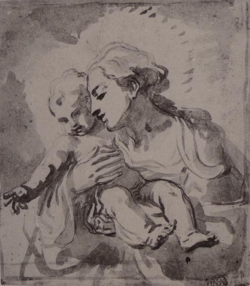 Sirani, Madonna and child