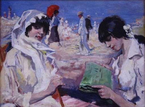 Gerardus Hendrik Grauss Elegant Ladies and Men at the Beach 1926