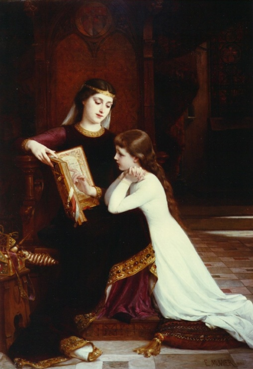 Emile Munier (1840-1895) The reading_lesson