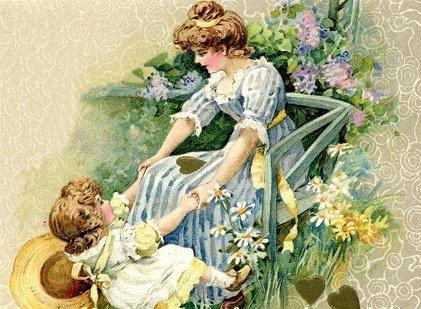 mãe e filha primavera