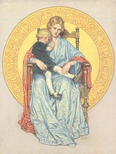 Mãe e filho, c. 1930,Walter Beach Humphrey (EUA, 1892)ost,68 x 50cm